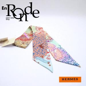 エルメス HERMES 靴スカーフ ツイリー シルク100% マルチカラー 英国式庭園にて 中古 新入荷 おすすめ HE0386 新着|ronde