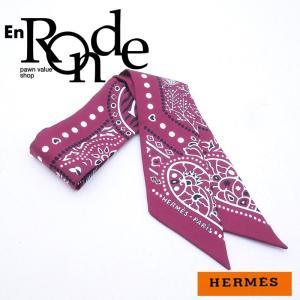 エルメス HERMES 靴スカーフ ツイリー シルク100% ボルドーペイズリー柄 中古 新入荷 おすすめ HE0306|ronde