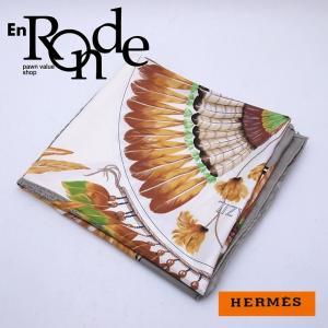 エルメス HERMES 小物アクセサリー スカーフ カレ90 BRAZIL シルク100% ブラジル 羽柄 中古 新入荷 おすすめ HE0303|ronde