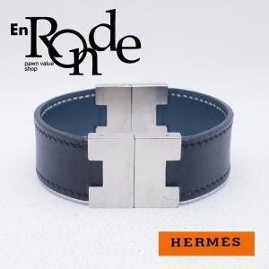 エルメス HERMES ブレスレットバングル ブレスレット リバーシブル レザー ブルー/ブラック 中古 新入荷 おすすめ HE0327|ronde