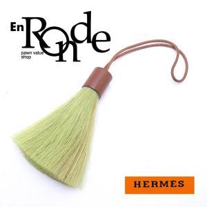 エルメス HERMES 小物アクセサリー バッグチャーム ホースヘア/レザー グリーン 中古 新入荷 おすすめ HE0320|ronde