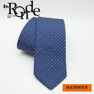 エルメス HERMES 靴スカーフ ネクタイ シルク100% ネイビー 中古 新入荷 おすすめ HE0340|ronde