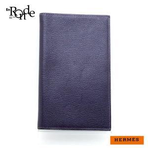 エルメス HERMES 財布 手帳カバー ヴィジョン 紫 中古|ronde