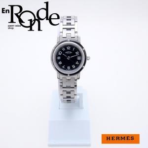 エルメス HERMES レディース腕時計 クリッパー CL4-210 SS ブラック文字盤 中古 新入荷 おすすめ HE0388 新着|ronde