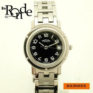 エルメス HERMES レディース腕時計 クリッパー CL4210 SS 黒文字盤 中古 新入荷 おすすめ ronde