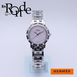 エルメス HERMES レディース腕時計 クリッパーナクレ CL4230 SS/ダイヤ入り シェル文字盤 中古 新入荷 新着|ronde