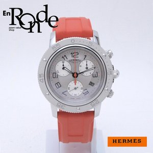 エルメス HERMES レディース腕時計 クリッパー ダイバークロノ CP2410 SS/ラバー シルバー文字盤 中古 新入荷 おすすめ ronde