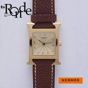 エルメス HERMES レディース腕時計 Hウォッチ HH1201 GP/革 ゴールド文字盤 中古 新入荷 おすすめ 新着|ronde