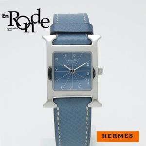 エルメス HERMES レディース腕時計 Hウォッチ HH1210 SS(ステンレス)/革 青文字盤 中古 新入荷 おすすめ ronde