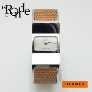 エルメス HERMES レディース時計 ロケ LO1210 SS(ステンレス)/リザード 白文字盤 中古 新入荷 おすすめ