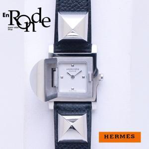 エルメス HERMES レディース時計 メドール ME2-210 SS/革 ホワイト文字盤 中古 新入荷 おすすめ 新着 ronde