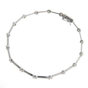 ブレスレット K18WG ダイヤモンド 1.00ct ジュエリー アクセサリー 中古 新入荷 J0044 ronde