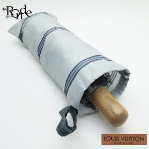ルイ・ヴィトン LOUISVUITTON 小物アクセサリー 折り畳み傘 ナイロン グレー 中古 おすすめ|ronde