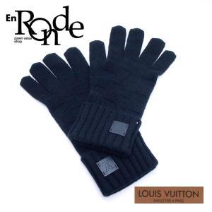 ルイ・ヴィトン LOUISVUITTON 小物アクセサリー 手袋 ゴン・ヘルシンキ  カシミヤ100% ノワール 中古 新入荷 新着|ronde