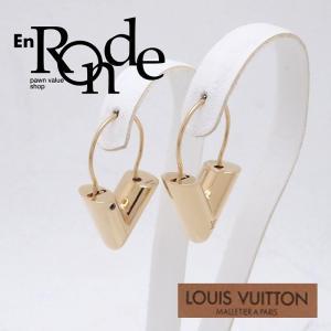 ルイ・ヴィトン LOUISVUITTON ピアスイヤリング フープイヤリング エッセンシャル M16088 ゴールド色 中古 新入荷 おすすめ LV0437|ronde