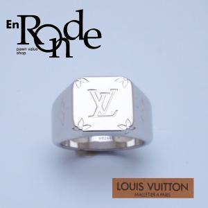 ルイ・ヴィトン LOUISVUITTON 指輪リング シグネットリング Lサイズ M62488 シルバー色 中古 新入荷 おすすめ LV0492|ronde