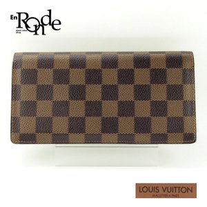 ルイ・ヴィトン LOUISVUITTON ダミエ 長財布 ブラザ N60017 コーティングキャンバス ダミエ 中古|ronde