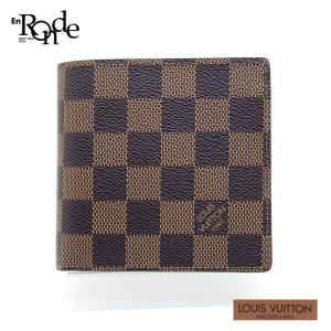 ルイ・ヴィトン LOUISVUITTON ダミエ 二つ折財布 マルコ N61675 コーティングキャンバス ダミエ 中古|ronde