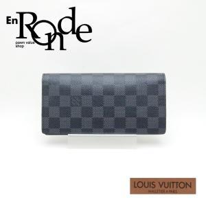 ルイ・ヴィトン LOUISVUITTON ダミエ 長財布 ブラザ N62665 コーティングキャンバス グラフィット 未使用品 新入荷|ronde
