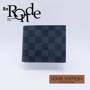 ルイ・ヴィトン LOUISVUITTON ダミエ 二つ折財布 ポルトフォイユマルコ N63336 コーティングキャンバス グラフィット 中古 新入荷 おすすめ 新着 ronde