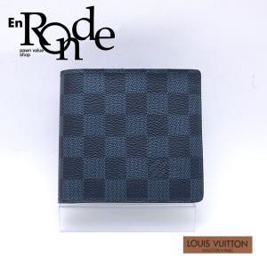 ルイ・ヴィトン LOUISVUITTON ダミエ 二つ折財布 ポルトフォイユ・マルコ N63351 コーティングキャンバス ダミエコバルト 中古 新入荷 おすすめ 新着|ronde