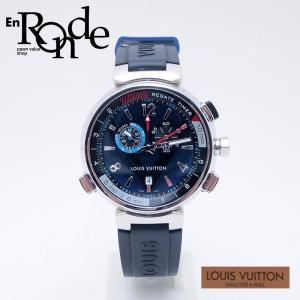 ルイ・ヴィトン LOUISVUITTON メンズ腕時計 タンブール レガッタクロノ Q102D SS/ラバー ネイビー文字盤 中古 新入荷 おすすめ|ronde