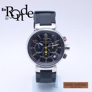 ルイ・ヴィトン LOUISVUITTON メンズ腕時計 タンブール Q1141 SS/ラバー ブラウン文字盤 中古 新入荷 おすすめ|ronde
