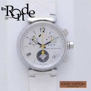 ルイ・ヴィトン LOUISVUITTON メンズ腕時計 タンブール Q11BA SS(ステンレス)/ラバー シェル文字盤 中古 新入荷 おすすめ 新着|ronde