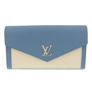 ルイ ヴィトン LOUIS VUITTON ポルトフォイユ・マイロックミー 長財布 カーフ ブルー ベージュ M62544 美品 新入荷 LV0609|ronde
