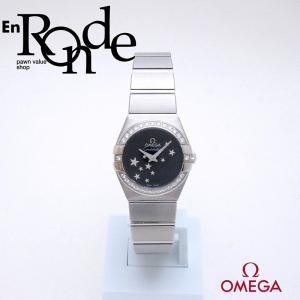 オメガ OMEGA レディース腕時計 コンステレーション ブラッシュ 123-15-24-60-01-001 SS/ダイヤ ブラック文字盤 中古 新入荷 おすすめ OW0228 新着|ronde