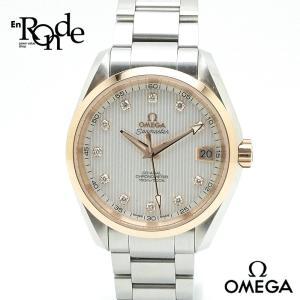 オメガ OMEGA メンズ時計 シーマスター コーアクシャル 23120392152003 ステンレス/ピンクゴールド/12Pダイヤモンド シルバー文字盤 中古|ronde