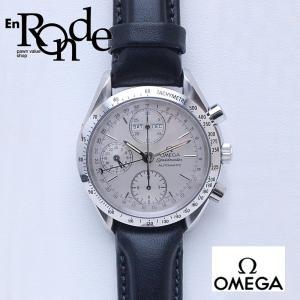 オメガ OMEGA メンズ腕時計 スピードマスター トリプルカレンダー 38213000 SS/革 シルバー文字盤 中古 新入荷 おすすめ OW0159|ronde