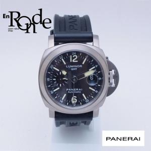 パネライ メンズ腕時計 ルミノールGMT PAM00089 Ti(チタン)/ラバー ブラック文字盤 中古 新入荷 おすすめ 新着|ronde