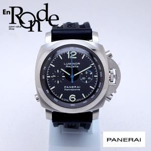 パネライ メンズ腕時計 ルミノール1950 ラトラパンテクロノ  SS/ラバー ブラック文字盤 中古 新入荷 おすすめ 新着|ronde