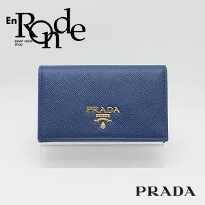 プラダ 小物アクセサリー プラダ カードケース IMC122 レザー/サフィアーノ ブルー 中古 新入荷|ronde