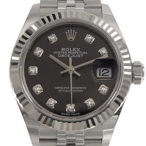 ロレックス ROLEX 時計 デイトジャスト レディース 自動巻き 腕時計 SS WG グレー文字盤 279174G ランダム 2019年 美品 新入荷 RO0193|ronde