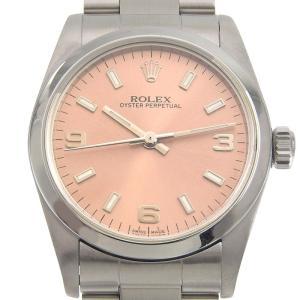 ロレックス ROLEX 時計 オイスターパーペチュアル 自動巻き オートマ 腕時計 SS ピンク文字盤 77080 A番 1998-1999年 中古 新入荷 RO0195|ronde