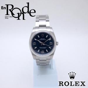 ロレックス ROLEX メンズ腕時計 オイスターパーペチュアル 114200 SS(ステンレス) ブルー369文字盤 中古 新入荷 おすすめ RO0185 新着|ronde