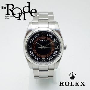 ロレックス ROLEX メンズ腕時計 オイスター パーペチュアル 116000 ステンレス ブラック/オレンジ 中古 新入荷 おすすめ|ronde