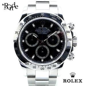 ロレックス ROLEX メンズ時計 デイトナ 116520 ステンレス 黒文字盤 中古|ronde