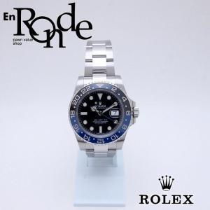 ロレックス ROLEX メンズ腕時計 GMTマスターII 116710BLNR SS ブラック文字盤 中古 新入荷 おすすめ RO0189 新着|ronde