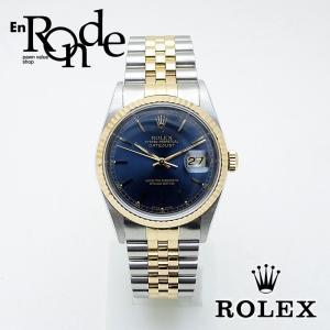ロレックス ROLEX メンズ腕時計 デイトジャスト 16233 SS/YG 青文字盤 中古 新入荷 おすすめ|ronde