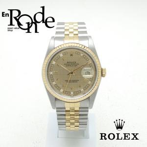 ロレックス ROLEX メンズ腕時計 デイトジャスト 16233G SS/YG ダイヤ入り ハウンズトゥース文字盤 中古 新入荷 おすすめ 新着|ronde