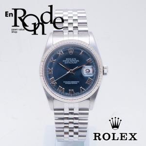 ロレックス ROLEX メンズ腕時計 デイトジャスト 16234 SS/WG ネイビー文字盤 中古 新入荷 おすすめ 新着|ronde