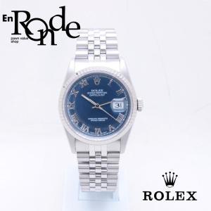 ロレックス ROLEX メンズ腕時計 デイトジャスト 16234 SS/WG ブルーロ-マン文字盤 中古 新入荷 おすすめ RO0177 新着|ronde