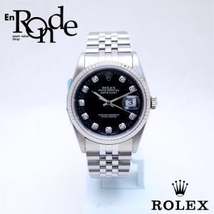ロレックス ROLEX メンズ腕時計 デイトジャスト 16234G SS/WG/10PD ブラック文字盤 中古 新入荷 おすすめ RO0180 新着|ronde