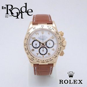 ロレックス ROLEX メンズ時計 デイトナ 16518 YG/革 ホワイト文字盤 中古 新入荷 おすすめ