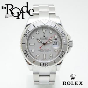 ロレックス ROLEX メンズ腕時計 ヨットマスター ロレジウム 16622 SS/Pt シルバー文字盤 中古 新入荷 おすすめ|ronde