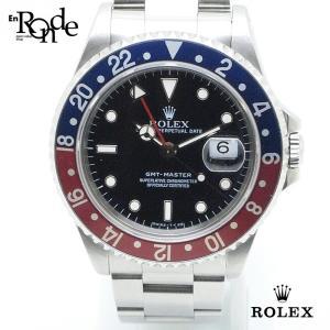 ロレックス ROLEX メンズ時計 GMTマスター 16700 ステンレス 黒文字盤 中古|ronde