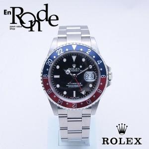 ロレックス ROLEX メンズ時計 GMTマスターII 16710 SS(ステンレス) 黒文字盤 中古 新入荷 おすすめ 新着|ronde